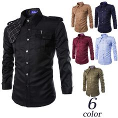 Wholesale cheap casual shirt online, style2 - Find best new 2015 casual men outdoor multi-pocket uniforms badges long sleeved military style mens shirt camisas hombre at discount prices from Chinese casual shirts supplier - suxiaotai on DHgate.com.