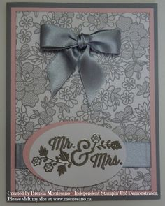 Handmade Card using For the New Two stamp set. Created by Brenda Montesano - Independent Stampin' Up! Demonstrator. Please visit my site at www.montesano.ca