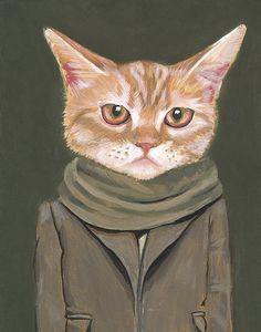 Cat Portrait Print / Heather Mattoon @Angela Gilbertélica Benítez tu pololo ajajajajajjajajajaj