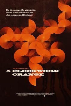 Clockwork Orange movie poster by James Mellers.