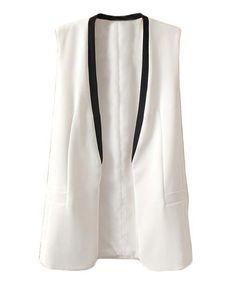 Deep V Neckline Sleeveless Vest - Vests - Tops - Clothing (scheduled via http://www.tailwindapp.com?utm_source=pinterest&utm_medium=twpin&utm_content=post10096040&utm_campaign=scheduler_attribution)