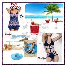 """Rose gal  14--Swimwear"" by fatimazbanic ❤ liked on Polyvore featuring Brewster Home Fashions"