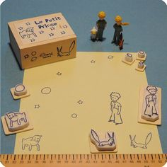 Le Petit Prince hand-carved stamps