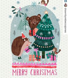 Merry Christmas  from Australia! by artist Rebecca Jones.