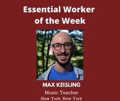 Essential Worker of the Week: Today, I'd like to acknowledge Max Keisling, a Music Teacher from New York, New York. We are grateful for you. Thank you for your service! Unsung Heroes by Benita Charles is an inspirational, tribute song that honors the essential workers who are making a difference for the nation during the Covid-19 pandemic. We are forever indebted to them for their service and courage! #newmusic #unsungheroes #essentialworkers #honor #thankyou #maxkeisling #education #newyork