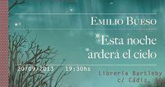 """Encuentro con Emilio Bueso en la biblioteca. """"Esta noche arderá el cielo"""" Enero 2014"""