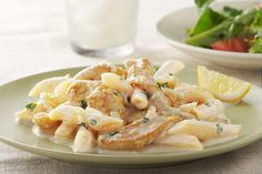 Cheesy, creamy and brightened by lemon zest, this chicken and penne pasta dish tastes amazing—but takes less than 40 minutes to make!