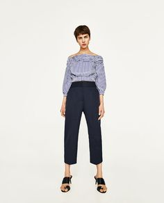 ZARA - WOMAN - CINCHED WAIST TROUSERS