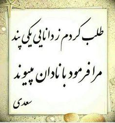حضرت سعدی*