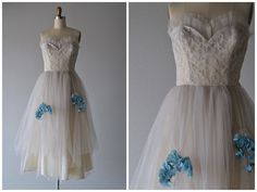 Vintage 1950s Tea Party Dress  1950s Dress  by LedbellyVintage