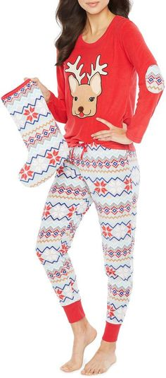 Pj Couture PJ Couture Cuddly Critters 3pc Pant Pajama Set