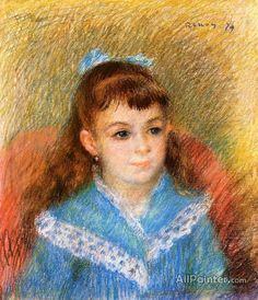 Pierre Auguste Renoir Portrait Of A Young Girl oil painting reproductions for sale