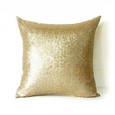 "AMAZLINEN(TM) Home Decor Sequin Throw Pillow Cover Pillow Case 18"" (Champagne Gold), http://www.amazon.com/dp/B01AVU8H4O/ref=cm_sw_r_pi_awdm_x-lgxb0C0FW3C"