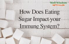 """How Does Eating Sugar Impact Your Immune System?""  It's not good!"