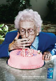 smoking causes premature ageing