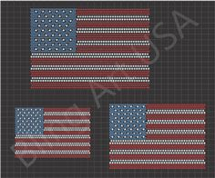 American Flag Files Template Pattern USA Bling Flag Art SVG PLT EPS PDF Red White And Blue Stone Stars And Stripes System United States Of America Stencil Freedom Easy Sticky Flock