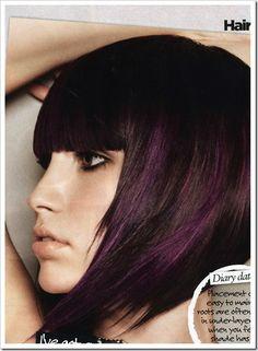 Subtle purple peek-a-boo highlights