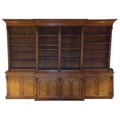 Massive Victorian Bookcase | From a unique collection of antique and modern bookcases at http://www.1stdibs.com/furniture/storage-case-pieces/bookcases/massive-victorian-bookcase/id-f_745322/