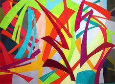 Paint 1: Joy by Connie Carrington.  Contemporary art quilts.