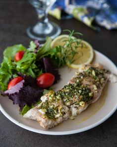 Lemon Rosemary Grouper by EclecticRecipes.com #recipe