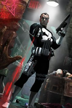 Another notable Marvel Comic character is Francis Castle or also known as The Punisher. An ex-US Marine and war veteran, Frank began a one man war on organised Punisher Marvel, Marvel Dc Comics, Marvel Vs, Marvel Heroes, A Comics, Daredevil, Punisher Logo, Marvel Comic Character, Comic Book Characters