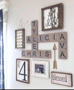 A lot of methods of work DIY wood household scrabble tile wall art layout may be fantastic alternative to decorate the home. For that reason, it is appropriate to use . Read Good DIY Wood Family Scrabble Tile Wall Art Design For Home Decoration Scrabble Tile Wall Art, Wall Letters Decor, Scrabble Tile Crafts, Scrabble Letters For Wall, Decorative Letters For Wall, Giant Scrabble Tiles, Kids Letters, Paper Letters, Monogram Wall Art