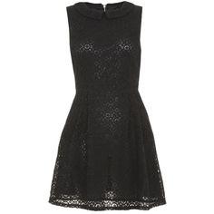Yumi Kiki kham dress ($43) ❤ liked on Polyvore featuring dresses, black, clearance, black sleeveless dress, fit and flare dress, lace fit & flare dress, lace fit and flare dress and sleeveless fit and flare dress
