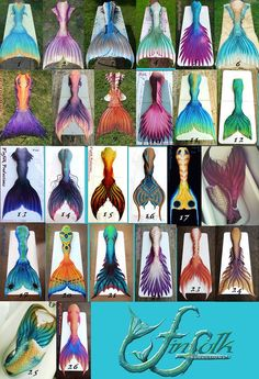 Fish folk tails are mermaid tales you can really swim in!!!! I would kill for any of them!!!!!
