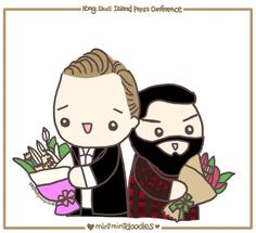 Mint Mint Doodles: Doodling my favorite moment from the Kong Skull Island Vietnam Press Conference [photo credit to Torrilla on weibo] http://mintmintdoodles.tumblr.com/post/139743762772/doodling-my-favorite-moment-from-the-kong-skull#notes