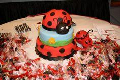 Ladybug Cake #ladybug #cake