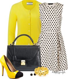 """""""BUMBLE BEE"""" by happygirljlc ❤ liked on Polyvore"""