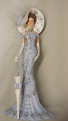 purple lady figurines thomas kinkade | THOMAS KINKADE CRYSTALS OF ELEGANCE TIMELESS REFLECTION FIGURE USED