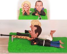 Sniper theme topper  Personalised wedding by UniqueCakeToppers