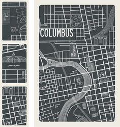 columbus ohio 1937 map