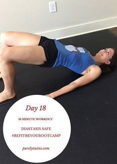 A safe low-impact bodyweight workout that is safe for women that have diastasis recti. Get ready to feel the burn in your lower body and core.