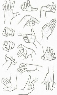 different hand gestures, how to draw anime girl, black and white, pencil sketch # anime drawings ▷ 1001 + ideas on how to draw anime - tutorials + pictures Anime Drawings Sketches, Pencil Art Drawings, Easy Drawings, Pencil Sketching, Sketches Of Hands, How To Shade Drawings, Cute Drawings Of Girls, Hand Pencil Drawing, Body Sketches