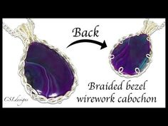 In this tutorial I show you how to make a braided bezel wirework cabochon. The technique can be used for different sizes and shapes of cabochons. Wire Jewelry Patterns, Wire Jewelry Designs, Handmade Wire Jewelry, Metal Jewelry, Wire Jewelry Making, Jewelry Making Tutorials, Jewellery Making, Wire Wrapped Rings, Wire Wrapped Pendant