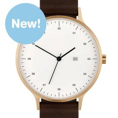 Instrmnt+01-B+(rose+gold/brown) watch by Instrmnt. Available at Dezeen Watch Store: www.dezeenwatchstore.com
