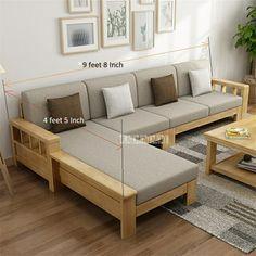 Corner Sofa Design, Sofa Bed Design, Living Room Sofa Design, Living Room Designs, Corner Sofa Set, Couch Set, Furniture Sets Design, Wooden Sofa Set Designs, Furniture Sofa Set