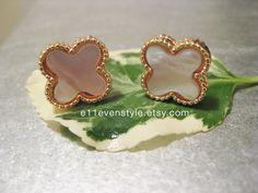 Clover earrings.