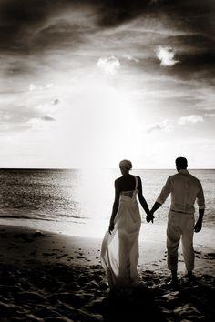 Aruba wedding sunset - photo by Jane Z Photography