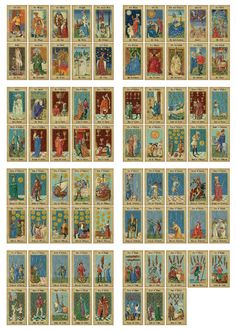 "Medieval Tarot Decks -the ""Mittelalter Tarot"" by Lo Scarabeo, Italy."