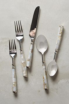 Anthropologie Mother-Of-Pearl Flatware