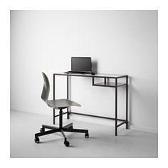 VITTSJÖ Laptoptafel - zwartbruin/glas - IKEA