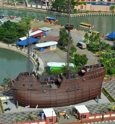 The Maritime Museum in Malaka, Malaysia from above.