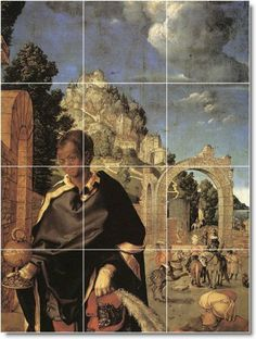 Albrecht Durer Religious Backsplash Tile Mural 27 | 12.75x17 using (12) 4.25x4.25 tiles by Picture-Tiles. $90.00. MURAL SIZE: 12.75x17 Inches Using (12) 4.25x4.25 Ceramic Tiles-Satin Finish. TILES: Commercial Grade Indoor Ceramic Wall Tiles-Satin Finish. YOUR Mural Can Be Designed To Any Size | Using Your Photos Or Ours | Contact Us For A Quote. COMMON USES: Kitchen Back Splash Tile | Bathroom Shower Tile | Accent/Decor | Any Indoor Wall. PRICING: Ceramic Wall Grade Tiles | $60...