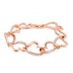 18K Gold Plated Alloy Stylish Stencil Heart Bracelet