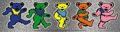 Rainbow Bears Grateful Dead Bears Bumper Sticker