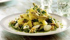 Artichoke and Potato Salad Banting, Artichokes, Vegetable Sides, Salad Plates, Potato Salad, Salads, Paleo, Potatoes, Vegetables