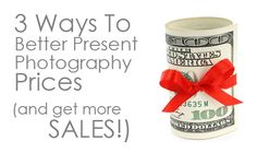 There are few things that bring us photographers as much angst as our photography prices. Here are 3 tips covering a better way to think about your photography pricing (and get more sales!)